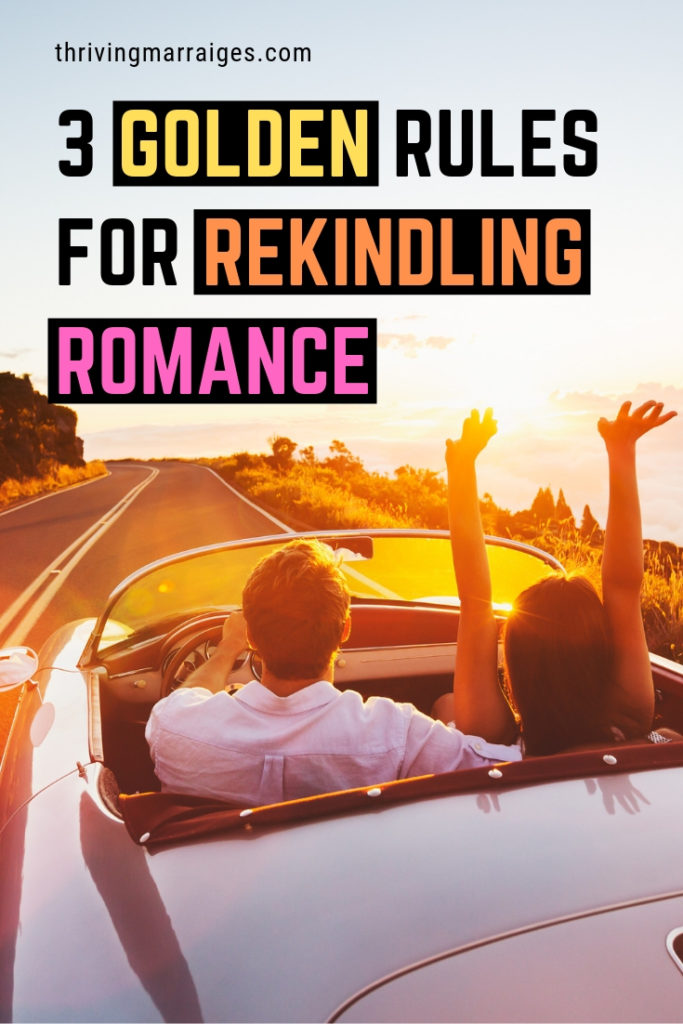 Many couples expect romance to just happen, but we have found that intentionality is the key to rekindling romance. Find out some cool ways to light that fire in your relationship. #marriage #Christianmarriage #Christianhusband #Christianwife #rekindleromance #ThrivingMarriages
